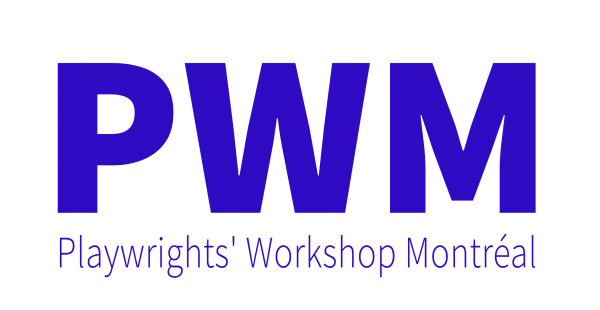 Logo in blue. PWM is written above Playwrights Workshop Montreal