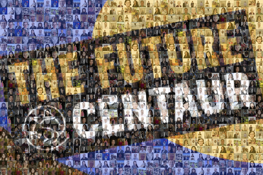 A banner image reads The Future at Centaur on a blue and yellow background made up of a mosaic of faces